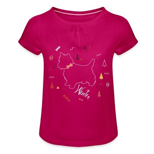 WINTER DOG COLLECTION - T-shirt à fronces au col Fille