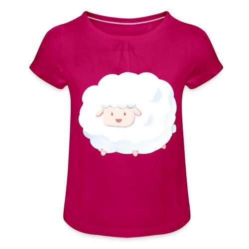Sheep - Maglietta da ragazza con arricciatura