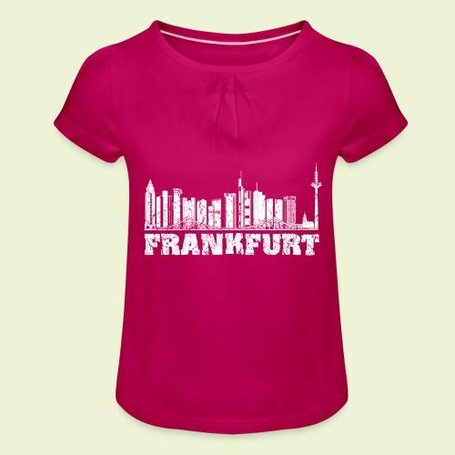Frankfurt - Mädchen-T-Shirt mit Raffungen
