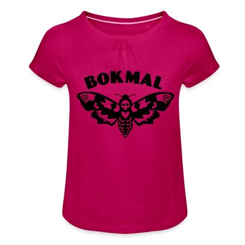 BOKMAL - T-shirt med rynkning flicka