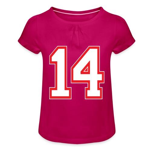 DANNIEB 14 - Maglietta da ragazza con arricciatura
