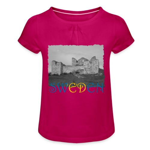 SWEDEN #1 - Mädchen-T-Shirt mit Raffungen