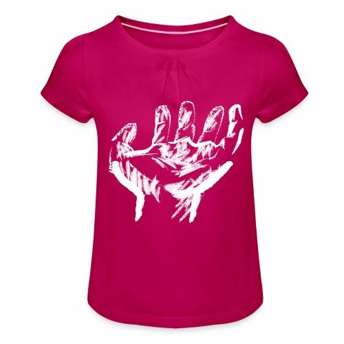 mano blanca - Camiseta para niña con drapeado