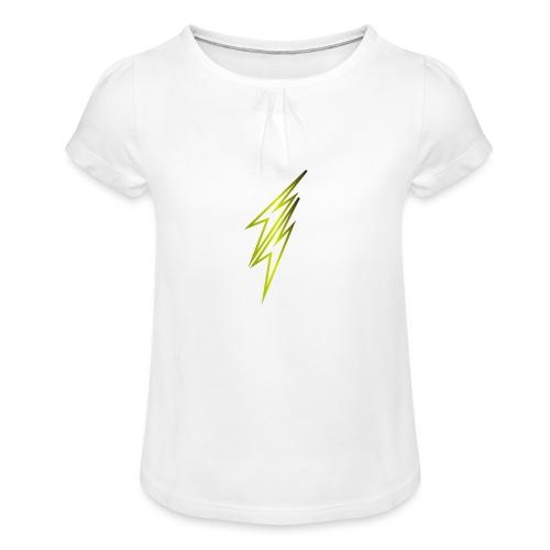 fulmine - Maglietta da ragazza con arricciatura
