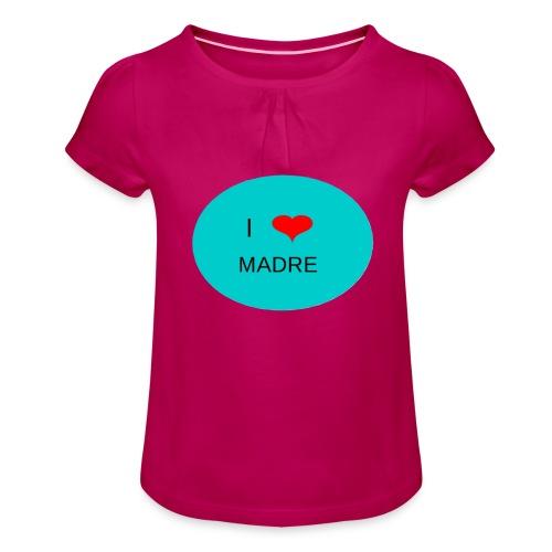 DIA DE LA MADRE - Camiseta para niña con drapeado