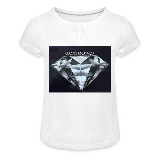 Diamond - T-shirt med rynkning flicka
