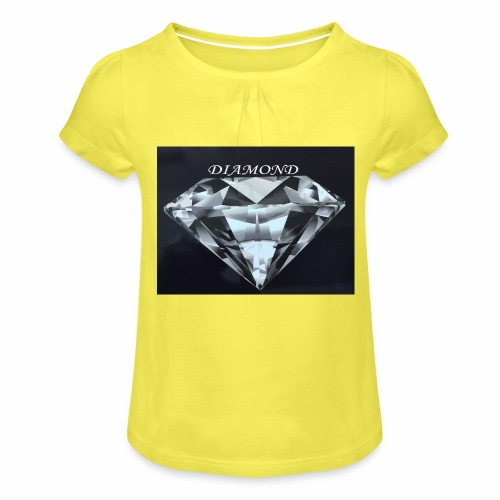 Diamond - T-shirt med rynkning flicka