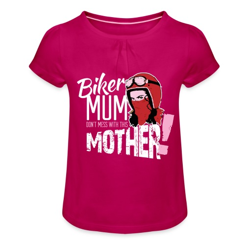 Biker Mum T-Shirt - Girl's T-Shirt with Ruffles