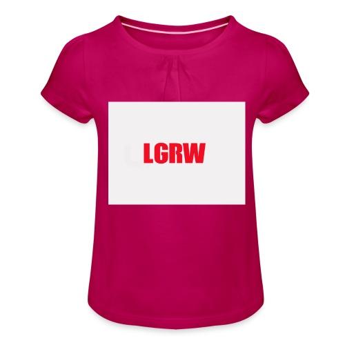 lets go red wings - Tyttöjen t-paita, jossa rypytyksiä