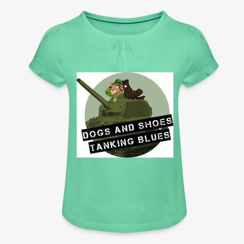 logo dogs nieuw - Meisjes-T-shirt met plooien