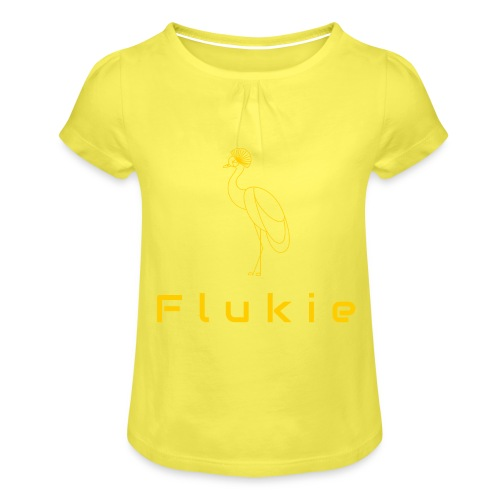 Original on Transparent - Girl's T-Shirt with Ruffles