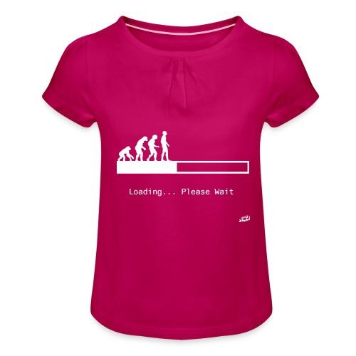 Loading... - Girl's T-Shirt with Ruffles