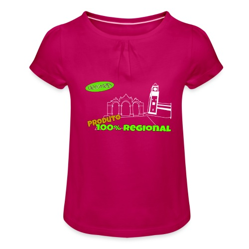 Dark City Gates - Girl's T-Shirt with Ruffles