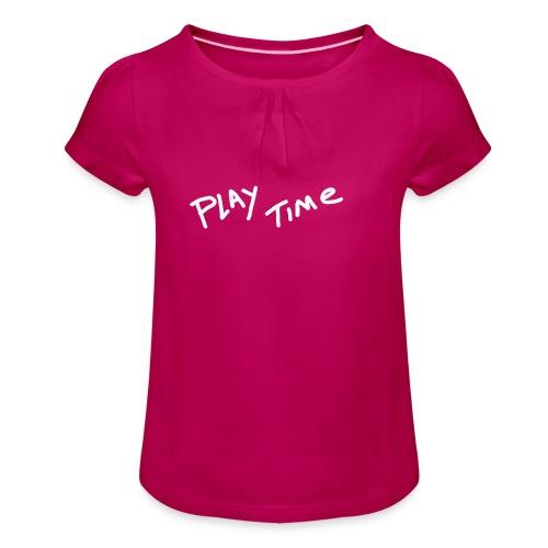 Play Time Tshirt - Girl's T-Shirt with Ruffles