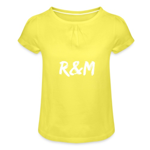 R&M Large Logo tshirt black - Girl's T-Shirt with Ruffles