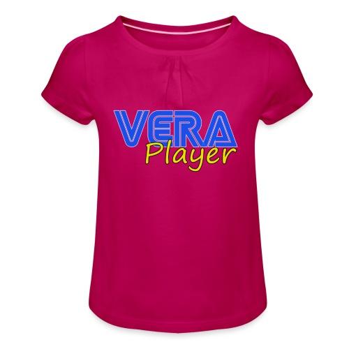 Vera player shop - Camiseta para niña con drapeado