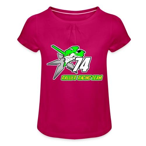 Rallier Racing Team - T-shirt à fronces au col Fille
