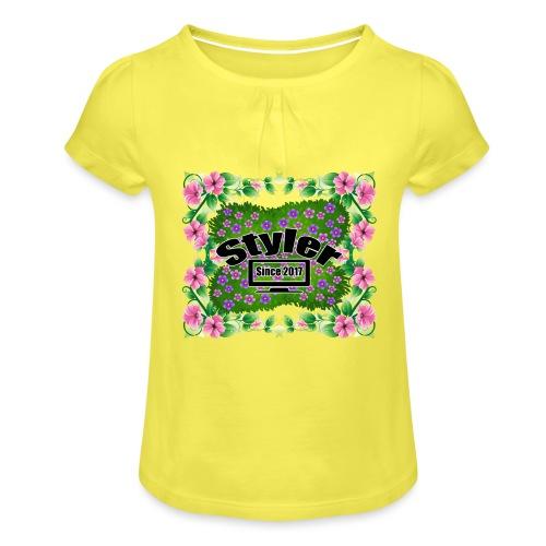 Styler Bloemen Design - Meisjes-T-shirt met plooien