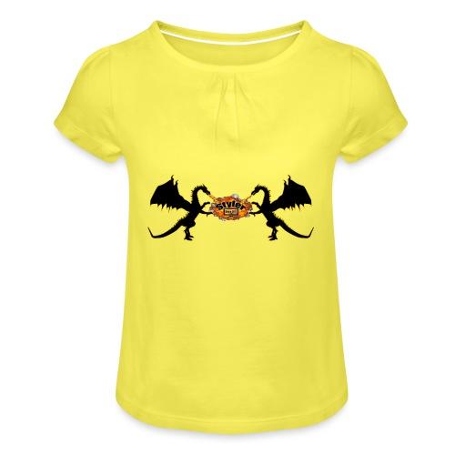 Styler Draken Design - Meisjes-T-shirt met plooien