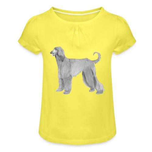 afghanskMynde - Pige T-shirt med flæser