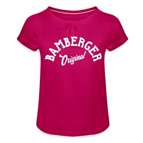Bamberger Original - Mädchen-T-Shirt mit Raffungen