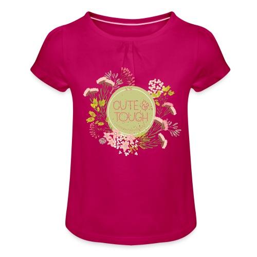 Cute and tough - green - Girl's T-Shirt with Ruffles
