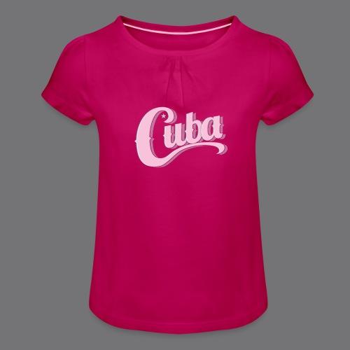 CUBA VINTAGE Tee Shirt - Girl's T-Shirt with Ruffles