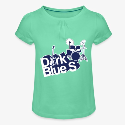 DarkBlueS outline gif - Girl's T-Shirt with Ruffles