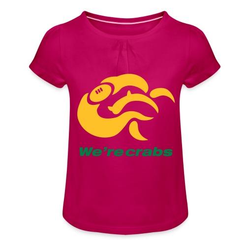 Crazycrab_Australia - Maglietta da ragazza con arricciatura