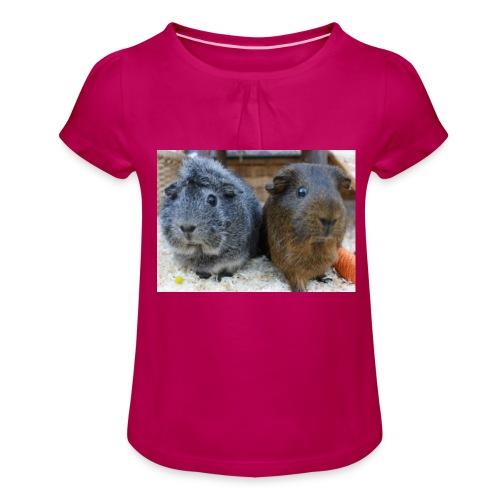Beide Meeris - Mädchen-T-Shirt mit Raffungen