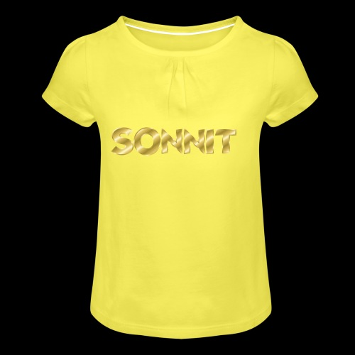 Sonnit Gold Plated Limited Edition - Girl's T-Shirt with Ruffles