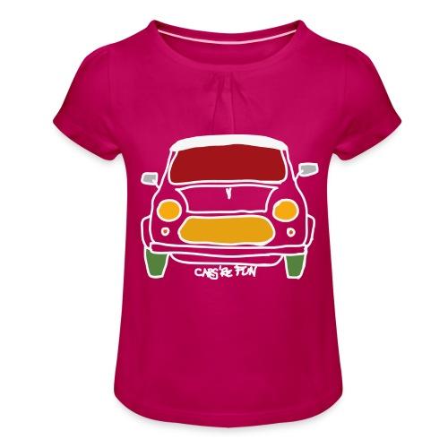 Voiture ancienne anglaise - T-shirt à fronces au col Fille