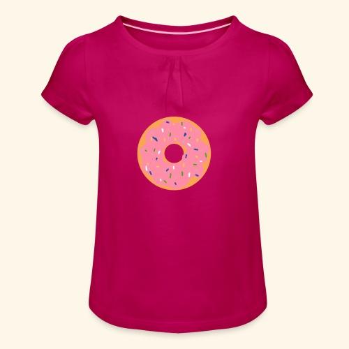 Donut-Shirt - Mädchen-T-Shirt mit Raffungen