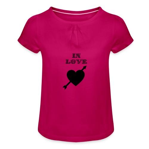 I'm In Love - Maglietta da ragazza con arricciatura