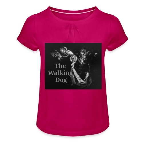 The Walking Dog - Mädchen-T-Shirt mit Raffungen