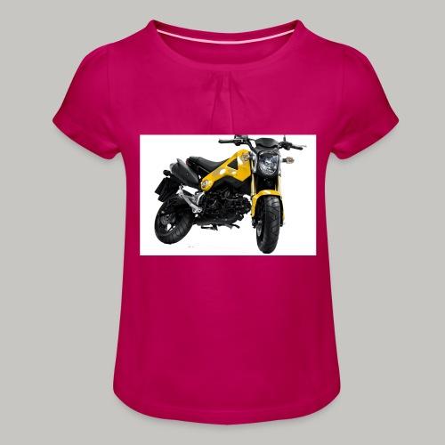 Grom Motorcycle (Monkey Bike) - Girl's T-Shirt with Ruffles