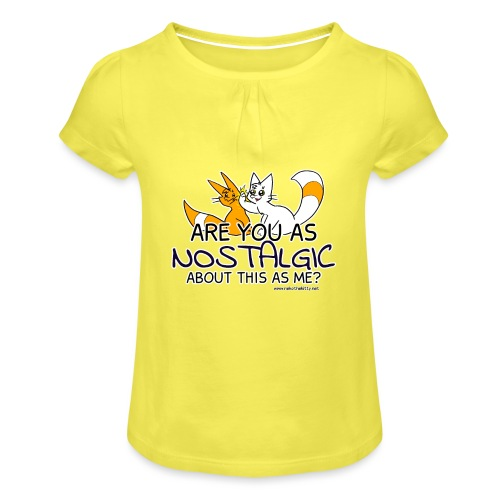 Nostalgia Hurts - Girl's T-Shirt with Ruffles