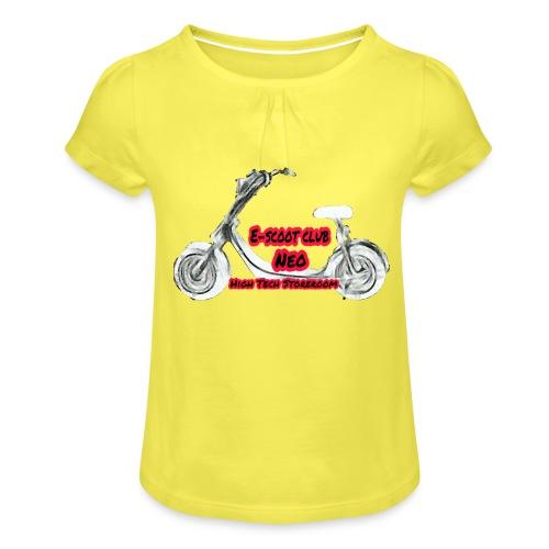 Neorider Scooter Club - T-shirt à fronces au col Fille