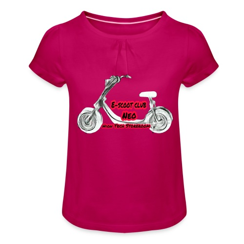 Neorider Scooter Club - T-shirt à fronces au col Fille