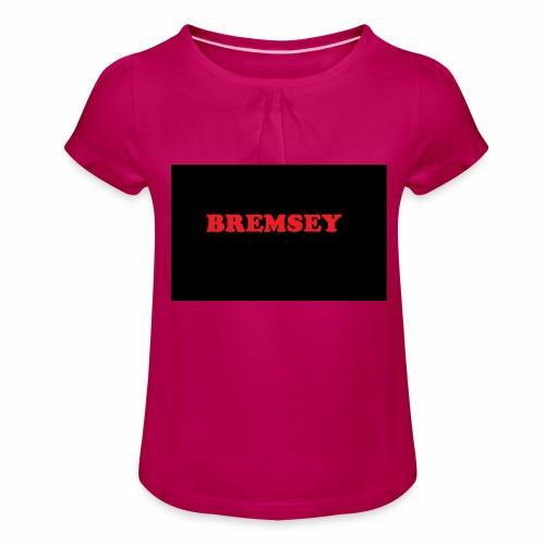 bremsey - T-shirt med rynkning flicka