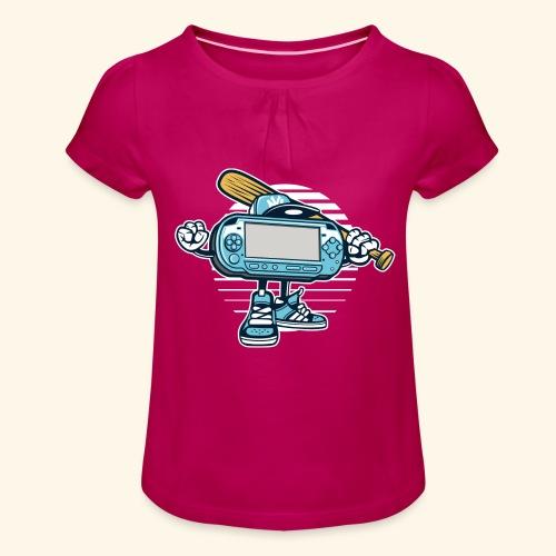 Game On - Mädchen-T-Shirt mit Raffungen