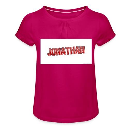 Jonathan - T-shirt med rynkning flicka