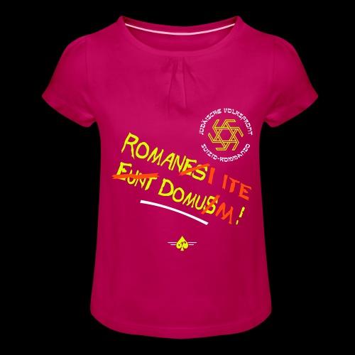 Volksfront (3col) - Mädchen-T-Shirt mit Raffungen
