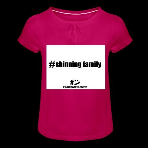 shinning family - T-shirt à fronces au col Fille