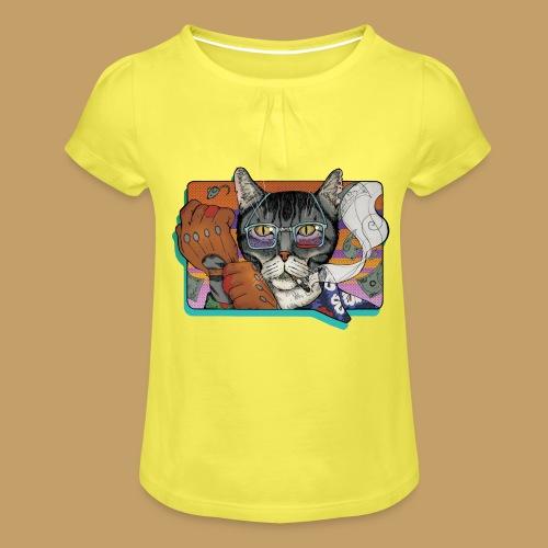 Crime Cat - Koszulka dziewczęca z marszczeniami
