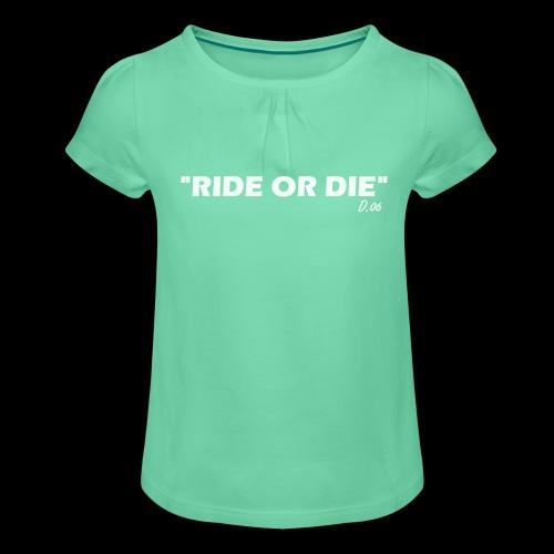 Ride or die (blanc) - T-shirt à fronces au col Fille