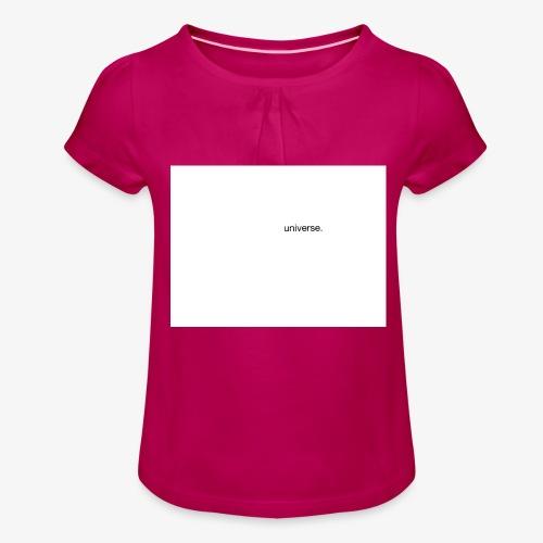 UNIVERSE BRAND SPONSOR - Maglietta da ragazza con arricciatura