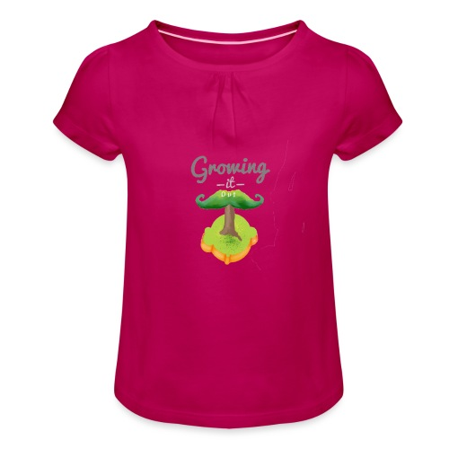 Moustache tree - Girl's T-Shirt with Ruffles