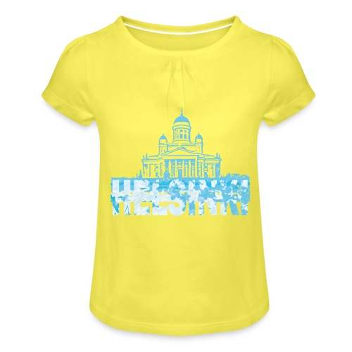 Helsinki Cathedral - Girl's T-Shirt with Ruffles