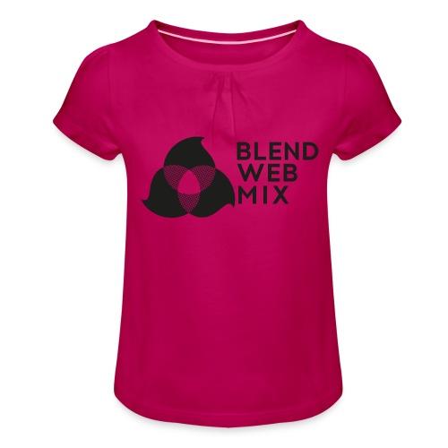 logo noir - T-shirt à fronces au col Fille